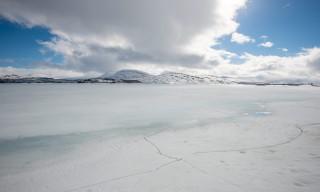Weiße Winterweite bei Rukkon, Umasjö