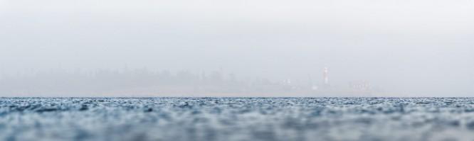Gåsören wenig später im Nebel verschwindend