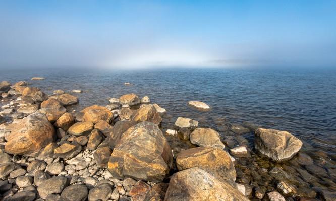 Kleine Nebelbank auf der Ostsee