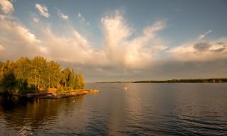 Abendsonne auf dem Ursviksfjärden