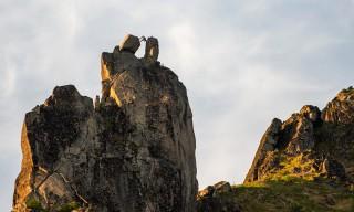 Bergsteiger auf der Svolværgeita