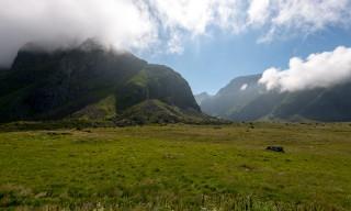 Wolken am Berg Tindan