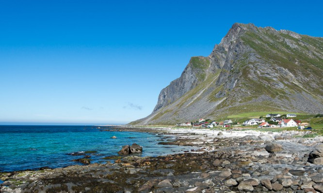 Vikten auf der Insel Flakstadøya