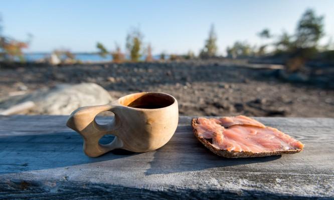 Frühstück auf der Insel