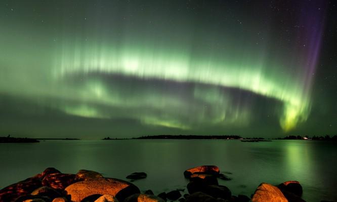 Polarlicht in der letzten Augustnacht