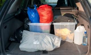 Viel Gepäck im Kofferraum