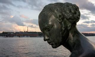 Crokus-Statue beim Stadshuset