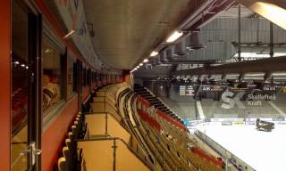 Ganz oben im Stadion